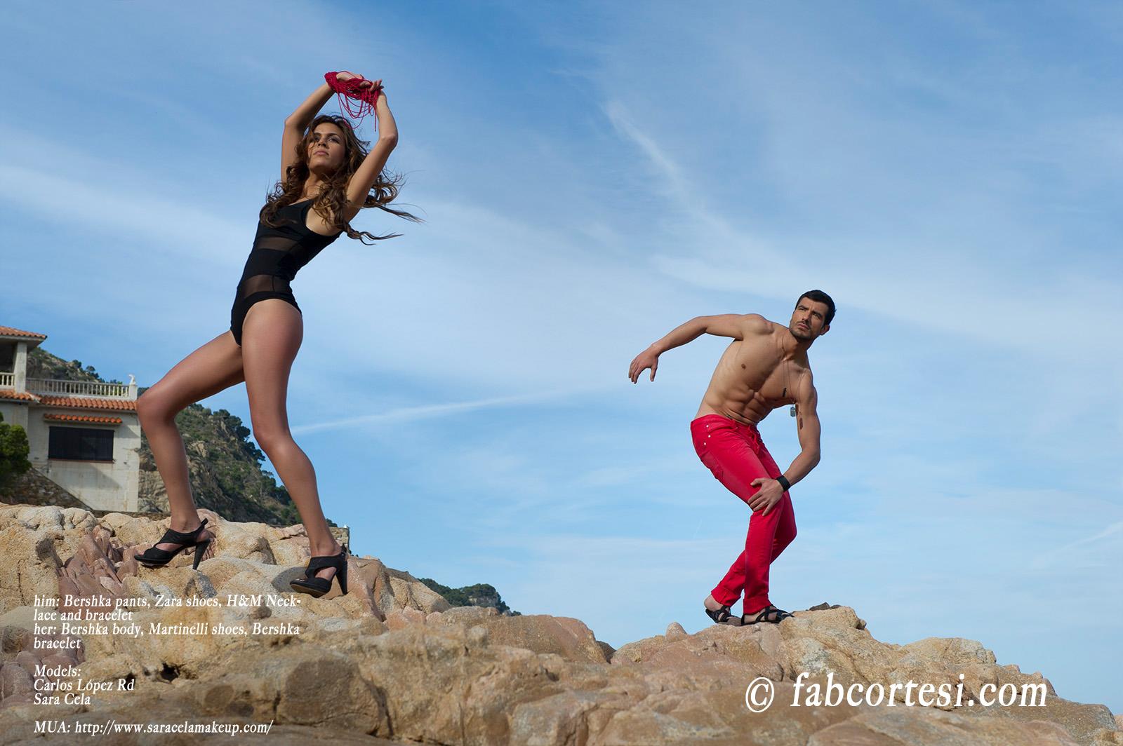 him: Bershka pants, Zara shoes, H&M Necklaceher: Bershka body, Martinelli shoes, Bershka braceletModels: Carlos López RdSara CelaMUA: http://www.saracelamakeup.com/