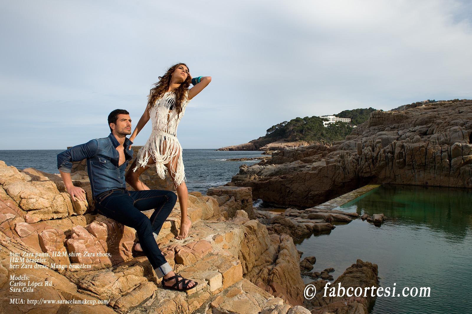 him: Zara pants, H&M shirt, Zara shoes, H&M bracelether: Zara dress, Mango braceletsModels: Carlos López RdSara CelaMUA: http://www.saracelamakeup.com/