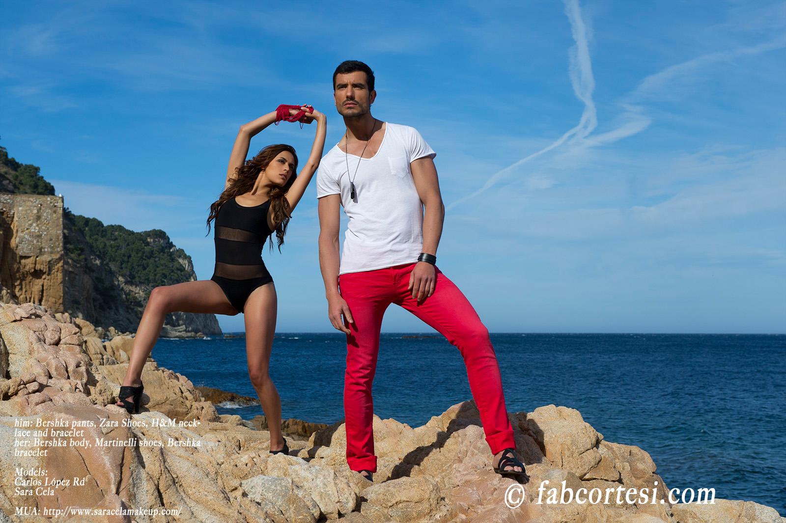 him: Bershka pants, Zara Shoes, H&M necklace and bracelether: Bershka body, Martinelli shoes, Bershka braceletModels: Carlos López RdSara CelaMUA: http://www.saracelamakeup.com/