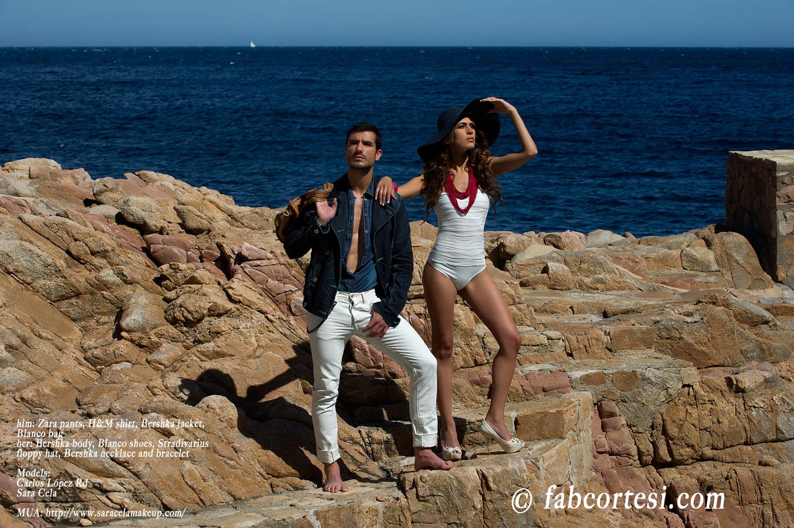 him: Zara pants, H&M shirt, Bershka jacket, Blanco bagher: Bershka body, Blanco shoes, Stradivarius floppy hat, Bershka necklace and braceletModels: Carlos López RdSara CelaMUA: http://www.saracelamakeup.com/