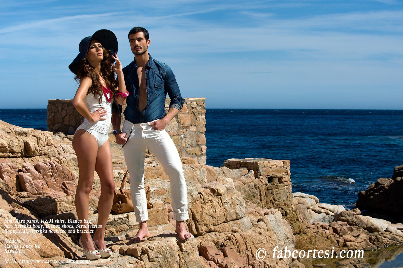 him: Zara pants, H&M shirt, Blanco bagher: Bershka body, Blanco shoes, Stradivarius floppy Hat, Bershka necklace and braceletModels: Carlos López RdSara CelaMUA: http://www.saracelamakeup.com/